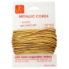 Elastic Metallic Cord 20yds/1.2mm Gold